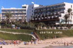 Grecian Sands Hotel in Ayia Napa, set on the golden sands of the Grecain Bay Area, click to enlarge this photograph