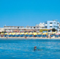 Limanaki Beach Hotel in Ayia Napa, located hear the harbour on one of Ayia Napas fantastic sandy beaches, click to enlarge this photograph