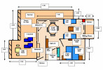 Floor Plan of an Executive One Bedroom Penthouse. Click to enlarge