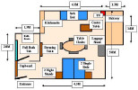 Floor Plan of a Standard Studio. Click to enlarge