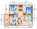 Floor Plan of a Standard Two Bedroom Apartment. Click to enlarge
