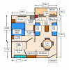 Floor Plan of a Superior One Bedroom Apartment. Click to enlarge
