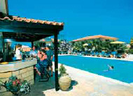 Andreas Tavros Hotel Apartments Bar and Pool Area